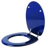 Fotografija Daska za WC šolju, medijapan, plava, p2