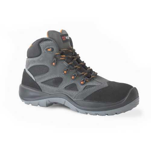 Zaštitna cipela Solano S3  izrađena od kombinacije paropropusnog tekstila i prevrnute goveđe kože koja je vododbojna.