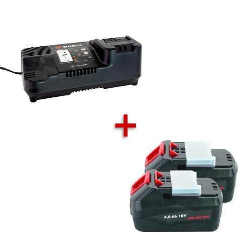 Starter pack - 2 baterije 4Ah i punjač