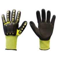 Thor Impack, zaštitne rukavice od mešavine visoko kvalitetnog polietilena visokih performansi (HPPE) initrila, TRP-a i kože, sa umecima za poboljšan stisak na spoljašnjem sloju materijala